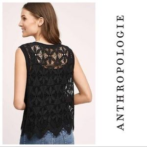 Anthropologie Deletta Scalloped Lace Tank